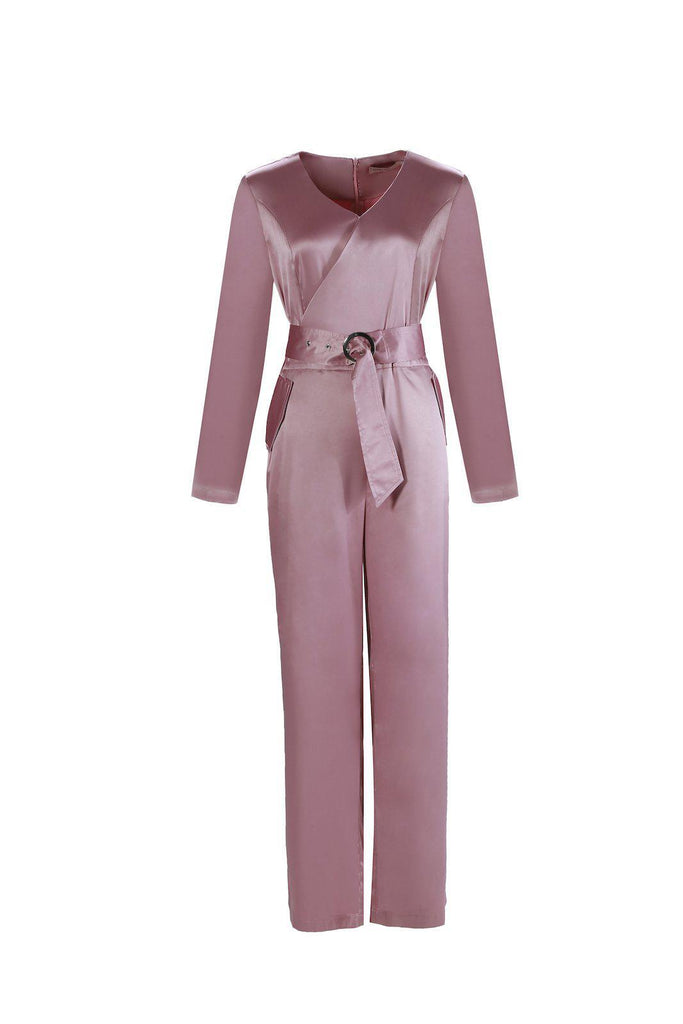 Dakota Jumpsuit - Pink Amethyst-Niswa Fashion