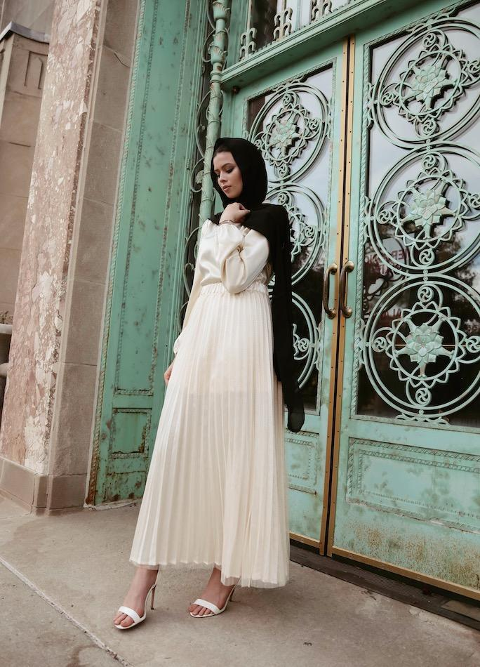 Diana Pleated Maxi Skirt-Niswa Fashion