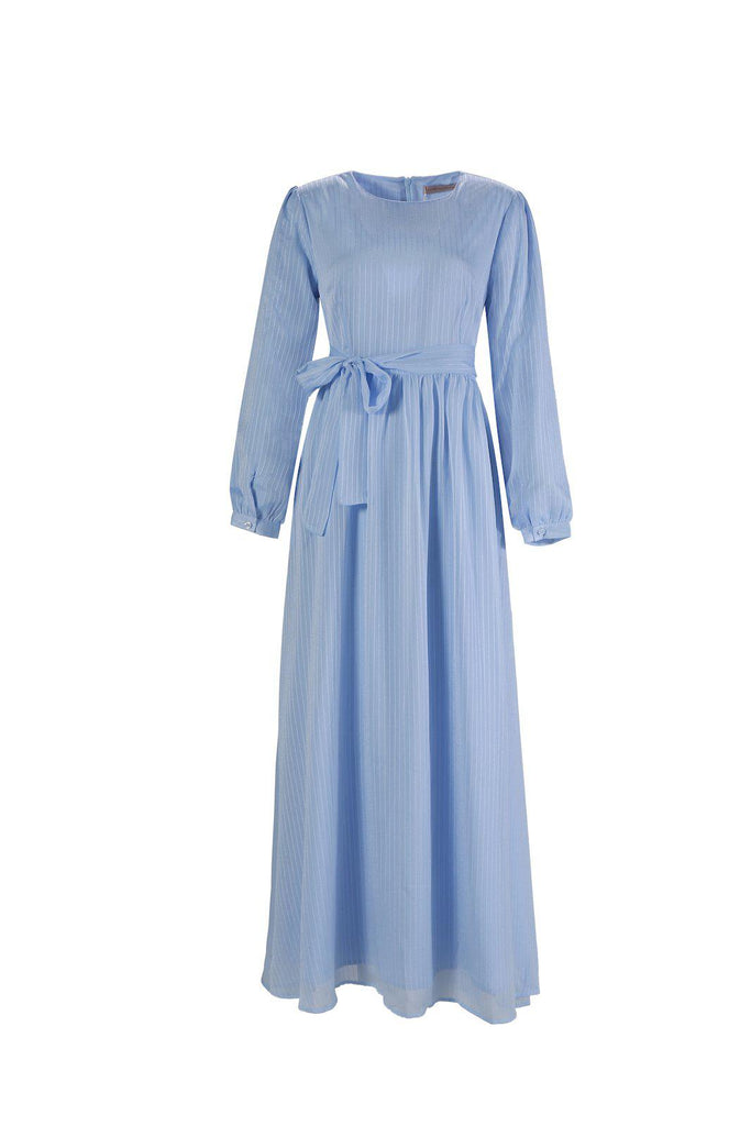 Ella Maxi Dress - Celestial Blue-Niswa Fashion