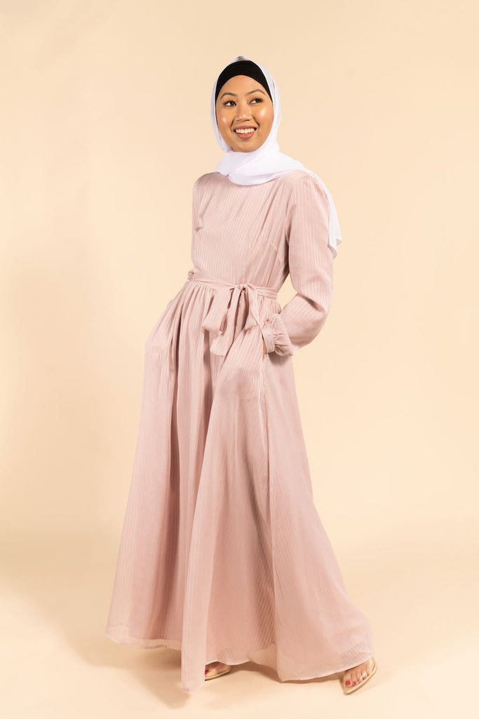 Ella Maxi Dress - Celestial Blush-Niswa Fashion