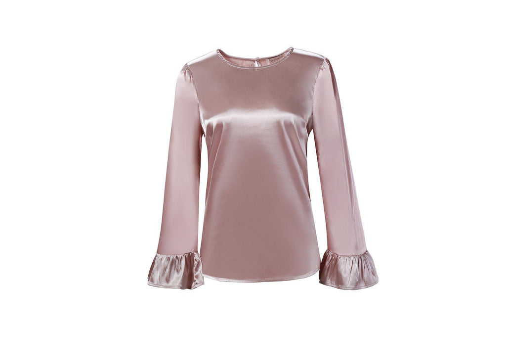 Eva Satin Top - Pink Saphhire SALE-Niswa Fashion
