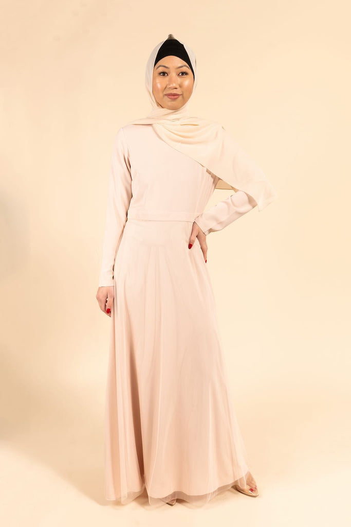 Fiona Maxi Gown - Bisque-Niswa Fashion