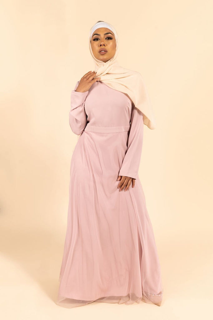 Fiona Maxi Gown - Pink Lilac-Niswa Fashion