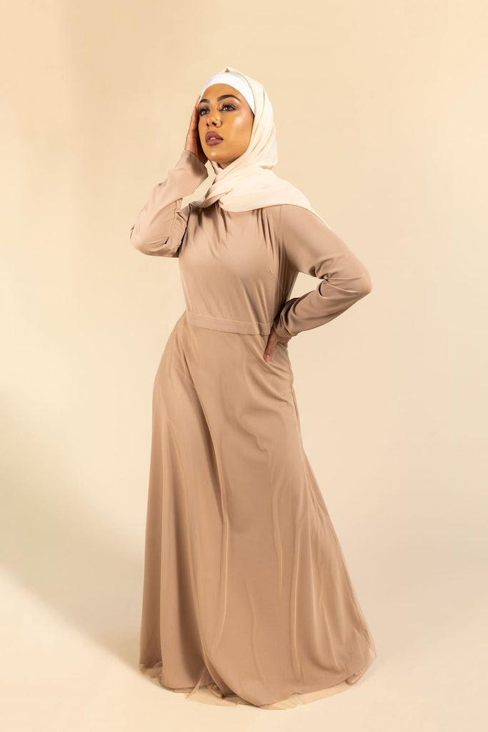 Fiona Maxi Gown - Wheat-Niswa Fashion