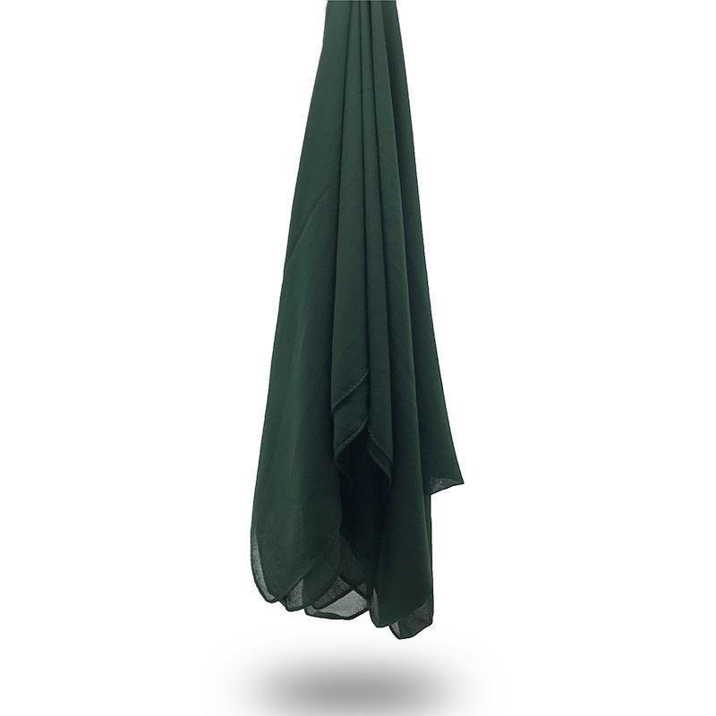 FOREST GREEN Georgette Chiffon Scarf