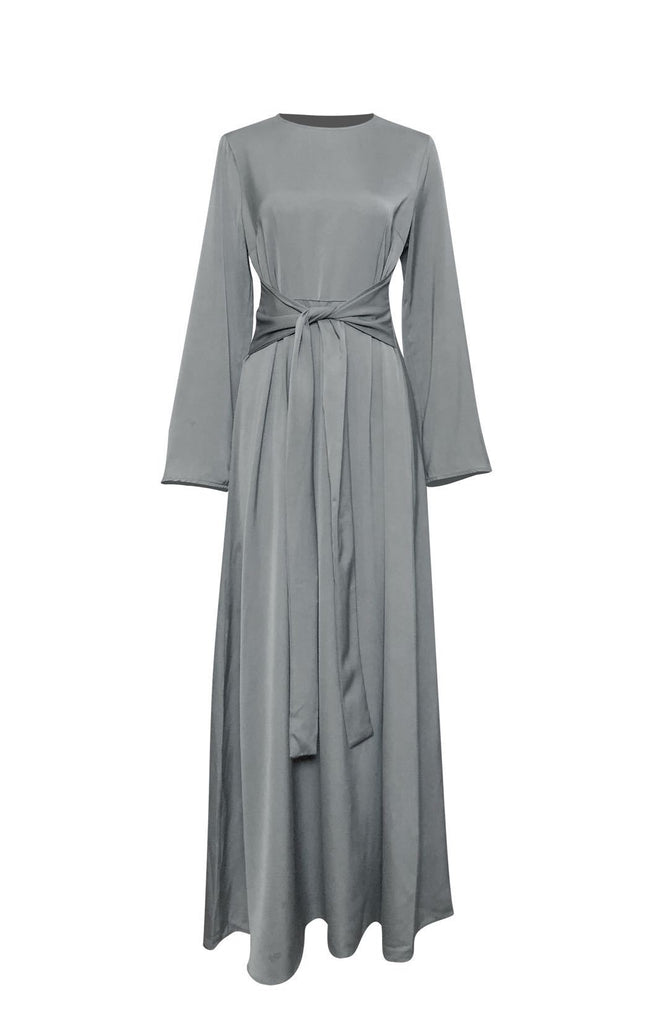 Helena Maxi Dress - Taupe-Niswa Fashion