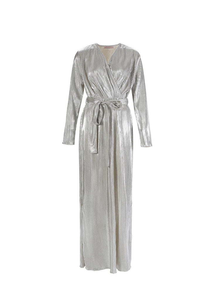 Katara Maxi Dress - Platinum-Niswa Fashion