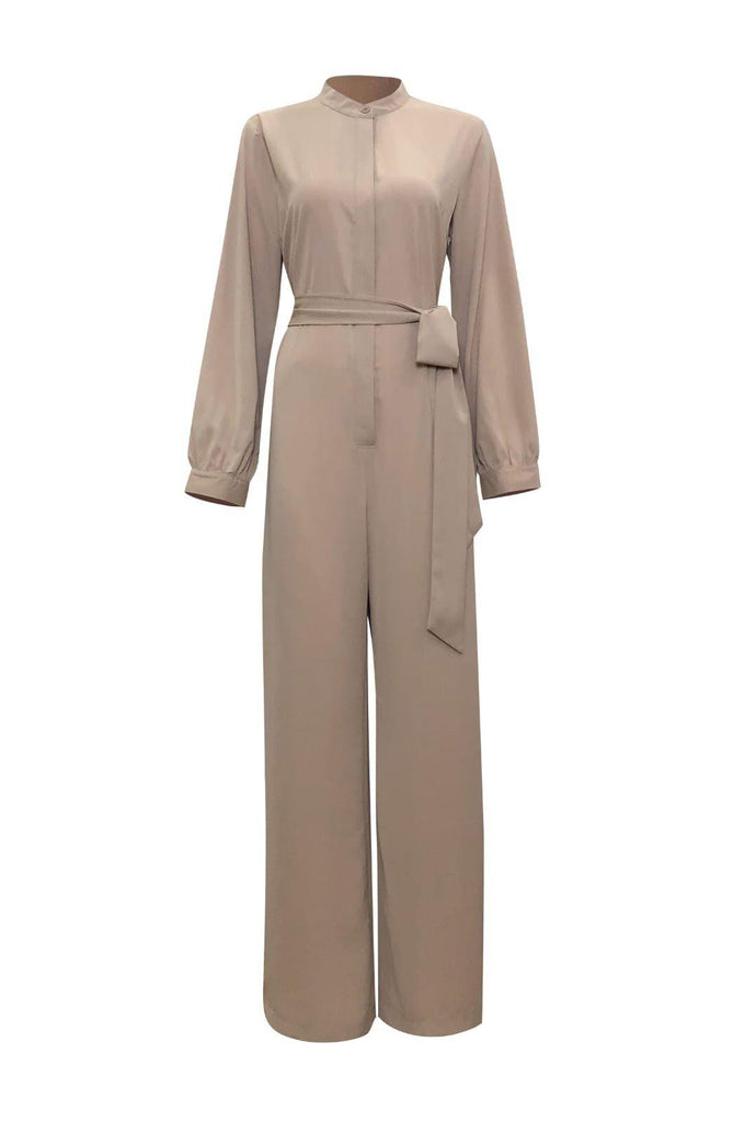 Lady Catherine Jumpsuit- Desert Sand-Niswa Fashion
