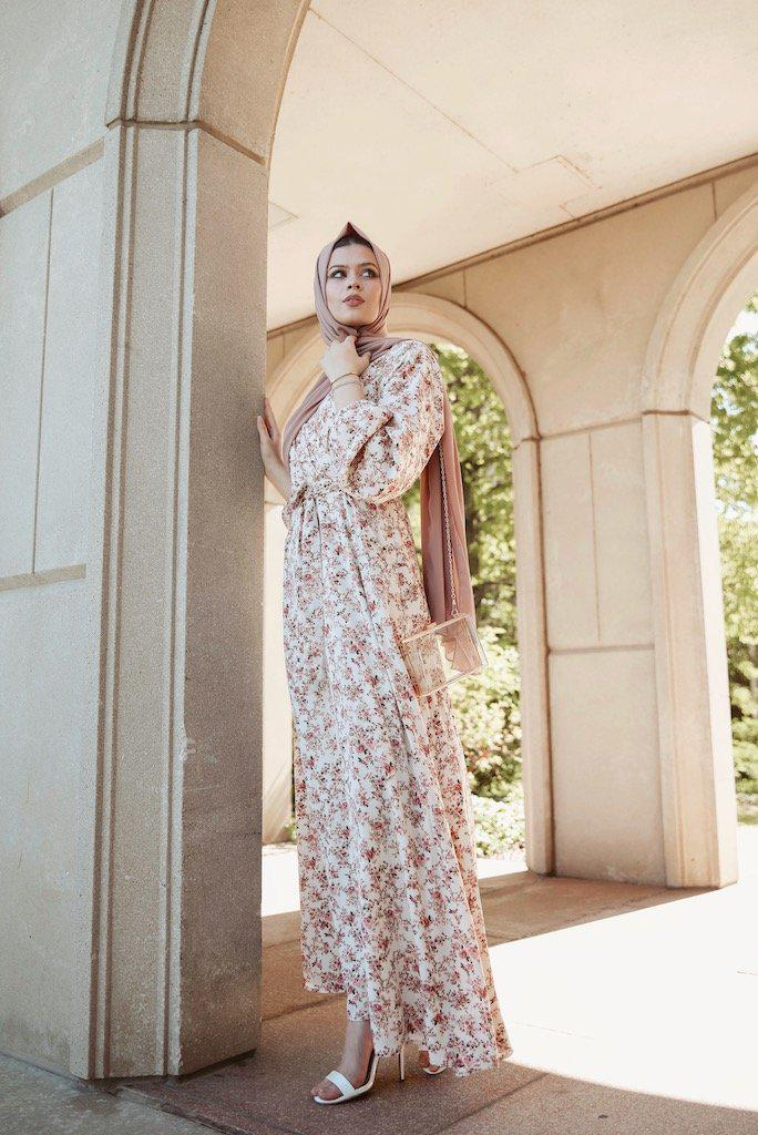 Les Fleurs Maxi Dress SALE-Niswa Fashion
