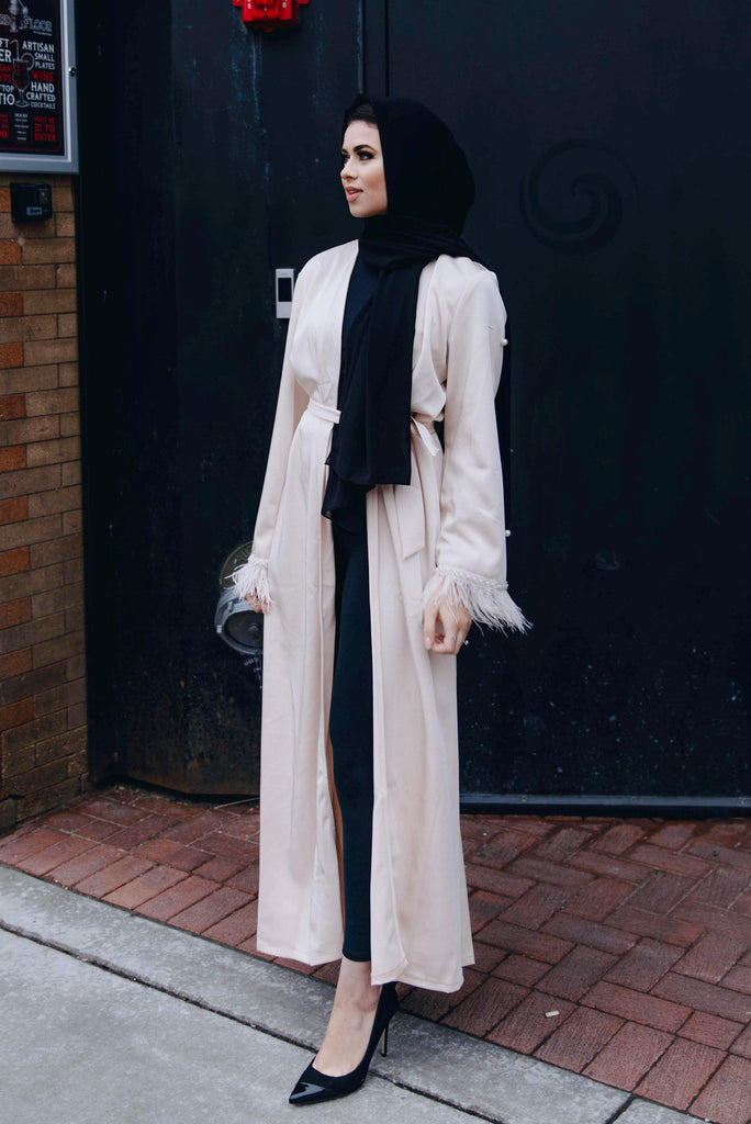 Mademoiselle - French Vanilla Abaya-Niswa Fashion