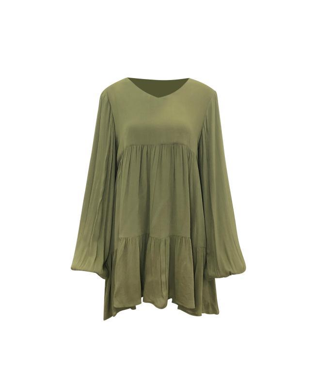Merida Tunic - Olive-Niswa Fashion
