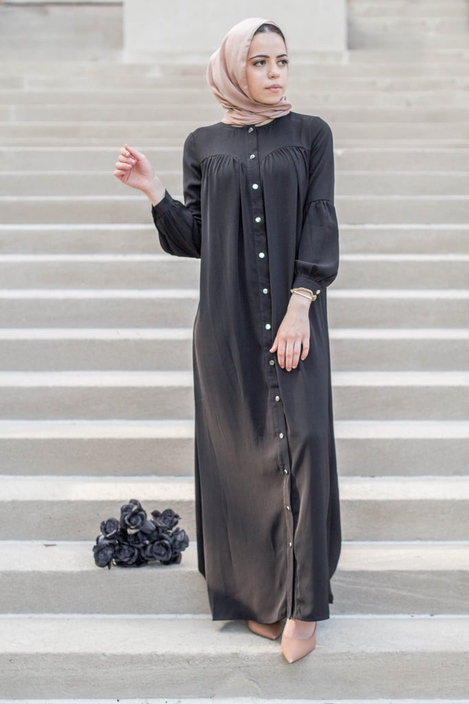 Miss Amelia Abaya - Black SALE-Niswa Fashion