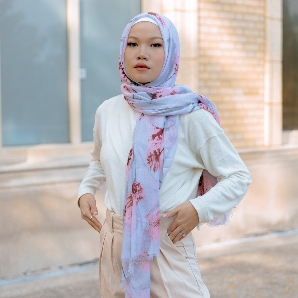 ORCHID BREEZE Viscose Print-AllScarves-Niswa Fashion