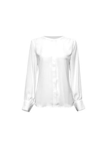 Pearl Blouse - White-Niswa Fashion