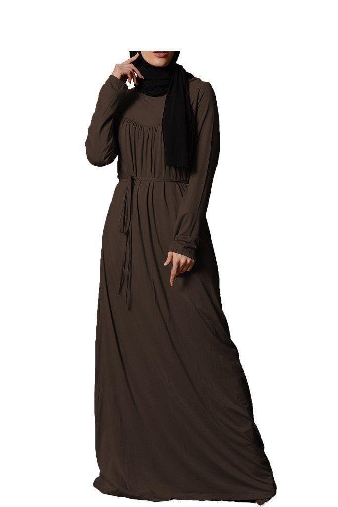 Pleated Abaya - Chocolate SALE-Niswa Fashion