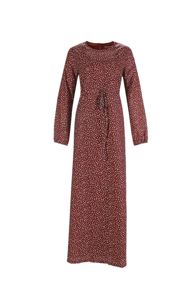 Polka Passion Maxi Dress - Amber-Niswa Fashion