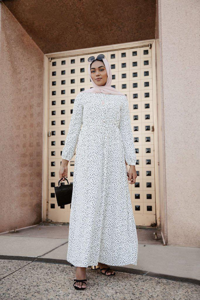 Polka Passion Maxi Dress - Yin and Yang-Niswa Fashion