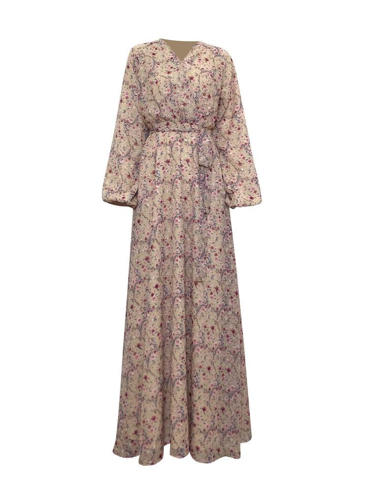 Prairie Meadow Maxi Dress-Niswa Fashion
