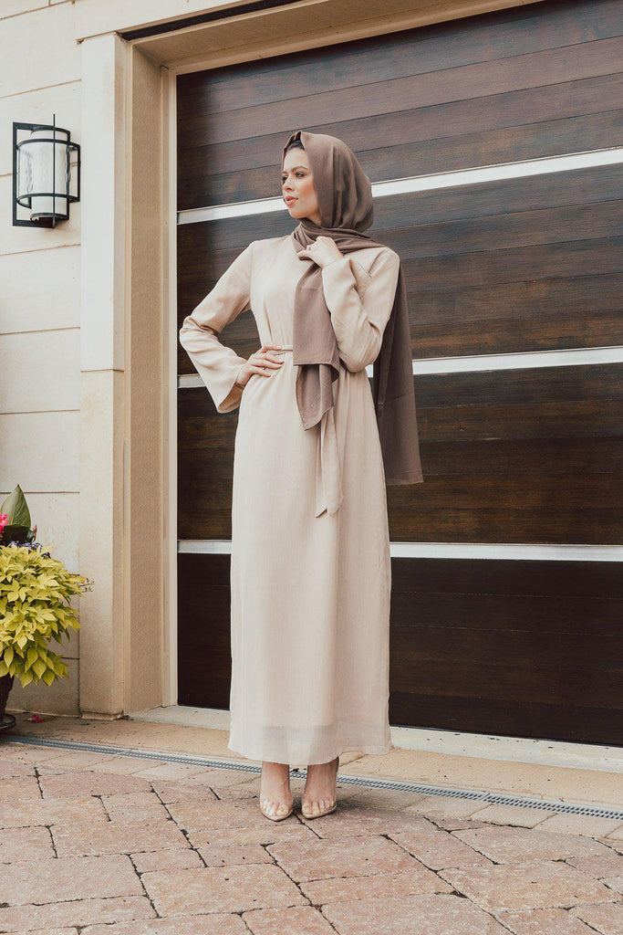 Raven Maxi Dress - Shimmery Butter-Niswa Fashion