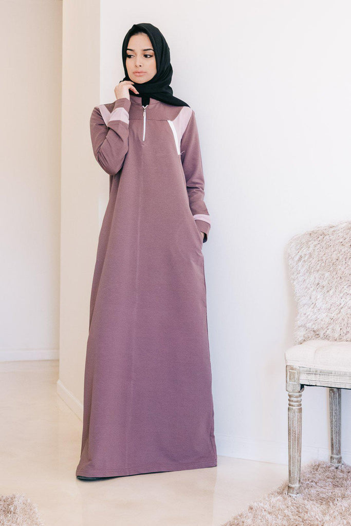 RIA Active Abaya - Mauve-Niswa Fashion