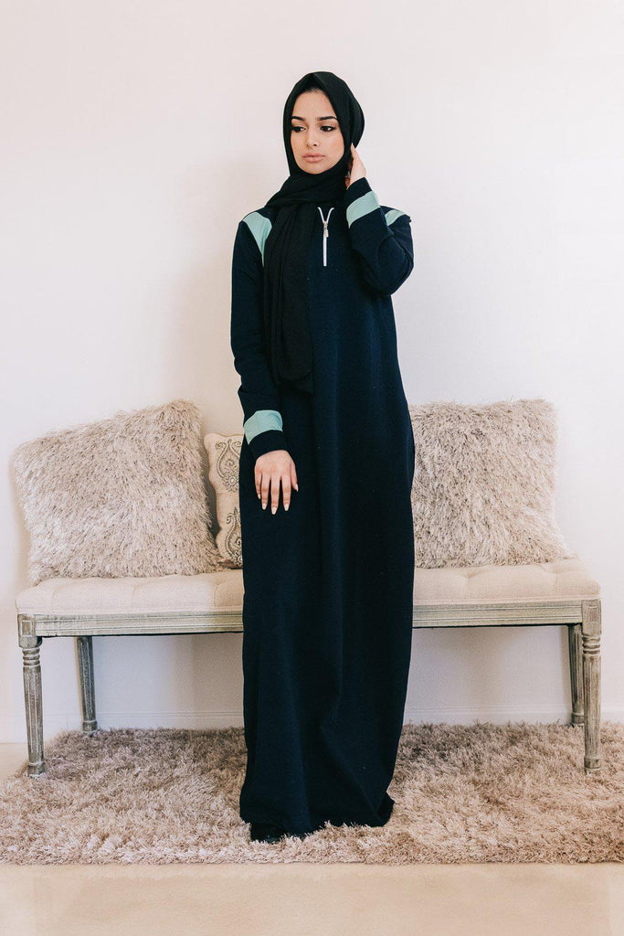 RIA Active Abaya - Navy SALE-Niswa Fashion