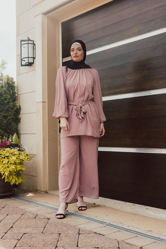 Sahara Tunic Set - Taupe SALE-Niswa Fashion