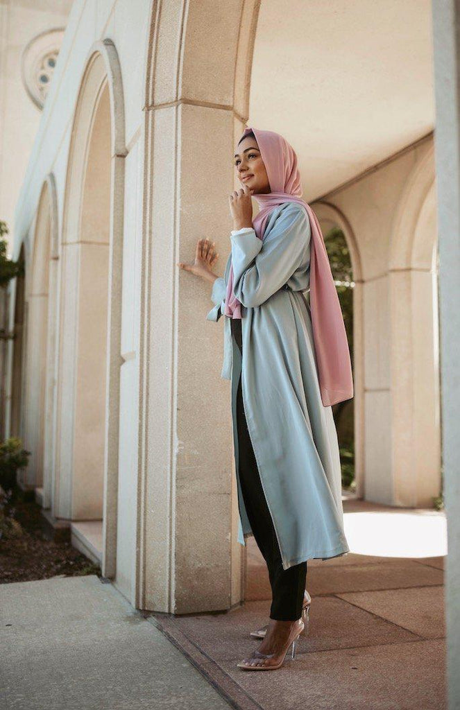 Sakura Wrap Cardigan - Dusty Mint-Niswa Fashion