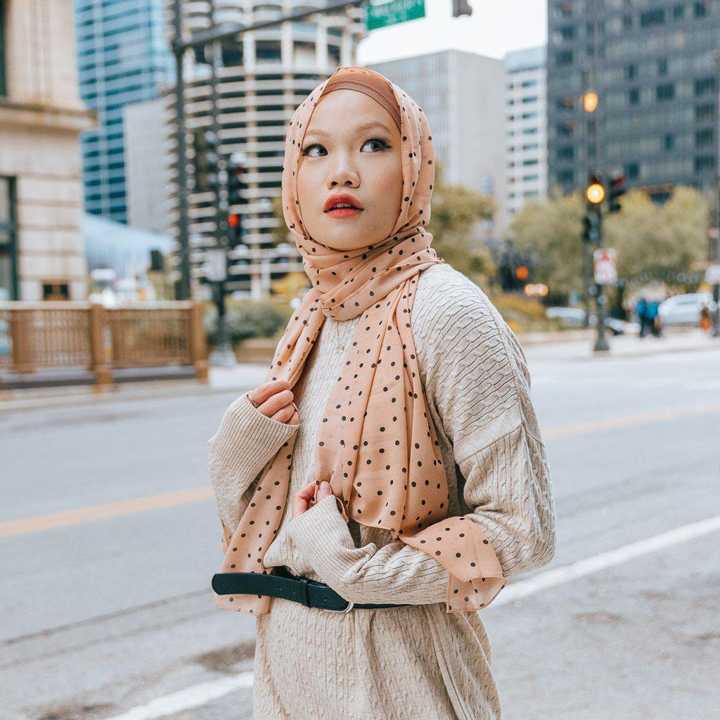 SCATTERED SAND Chiffon Print-Niswa Fashion