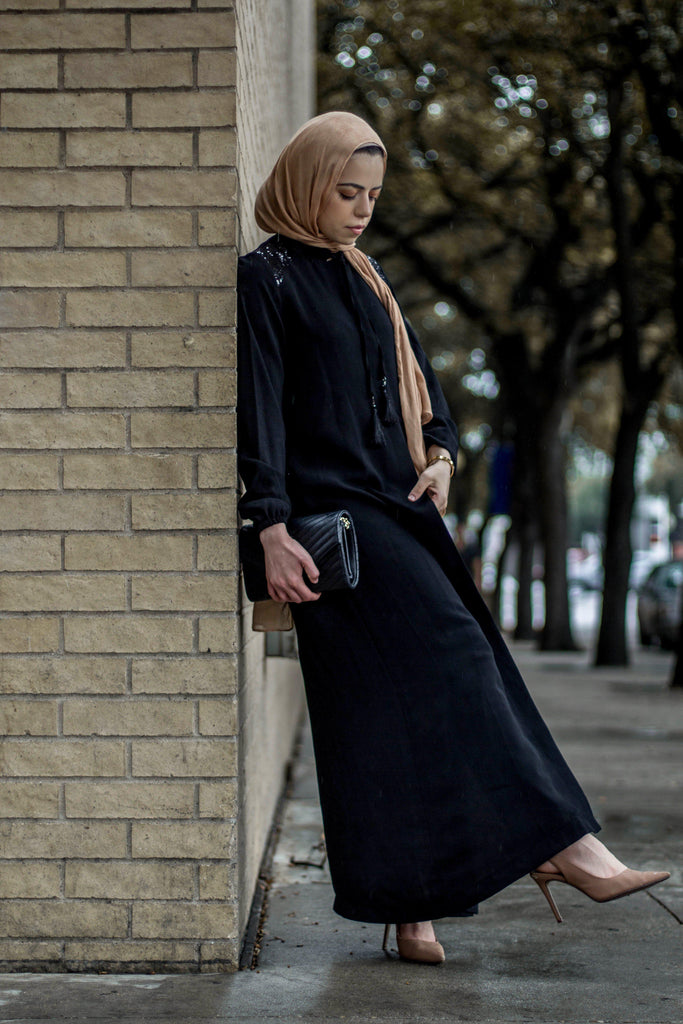 The Diana Abaya - Black-Niswa Fashion