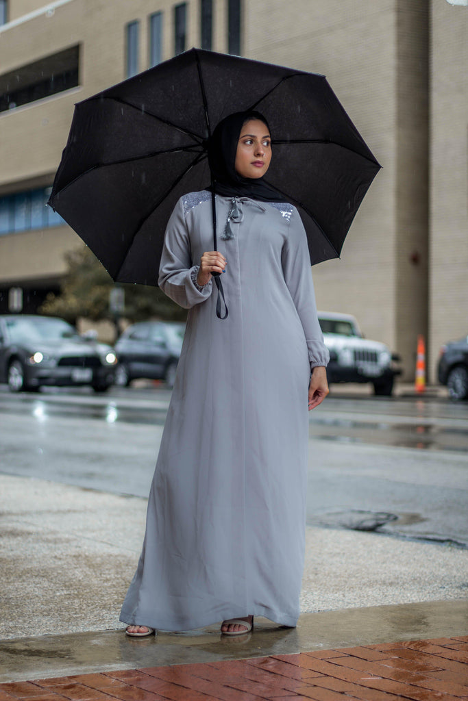 The Diana Abaya - Silver-Niswa Fashion