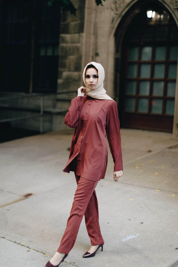 The Oxford Dress Set - Foxy Autumn SALE-Niswa Fashion