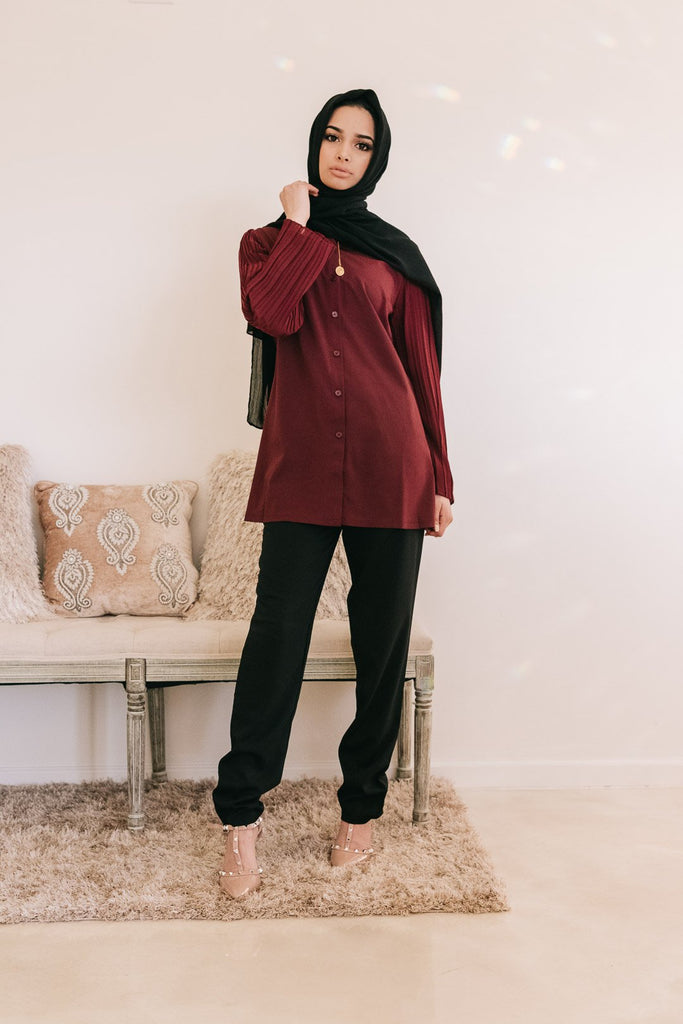 The Oxford Dress Set - Red Maple SALE-Niswa Fashion