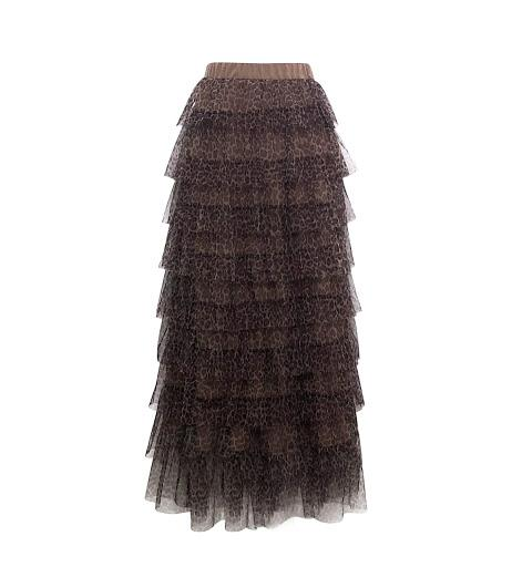 Toulon Tulle Maxi Skirt - Cheetah-Niswa Fashion
