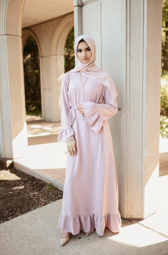 Valentina Maxi Dress - Charming Blush-Niswa Fashion