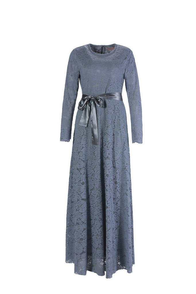 Venetian Maxi Gown - Ocean Gray-Niswa Fashion