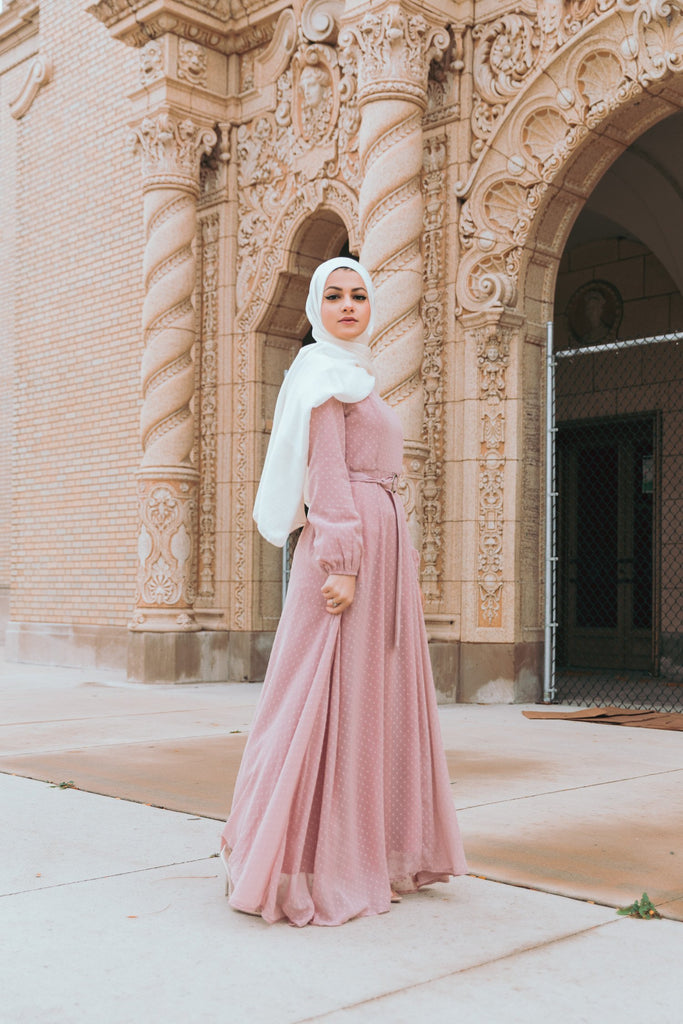 Whimsical Maxi Dress - Blush-Niswa Fashion