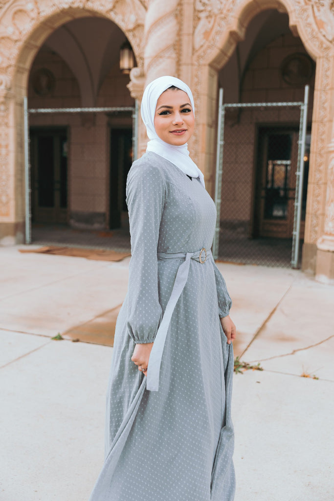 Whimsical Maxi Dress - Misty Gray-Niswa Fashion