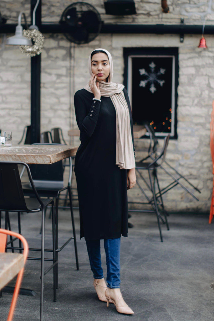 Zahra Tunic - Noir-Niswa Fashion