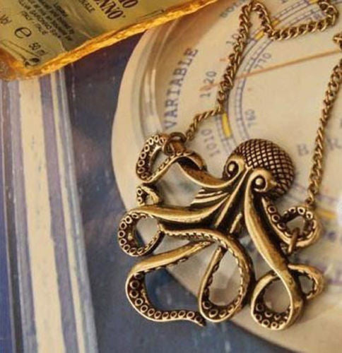 NEW Steampunk Retro Octopus Pendant Necklace - BlisstechStore.com