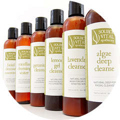 Source Vital natural product line for spas, estheticians, and massage therapists