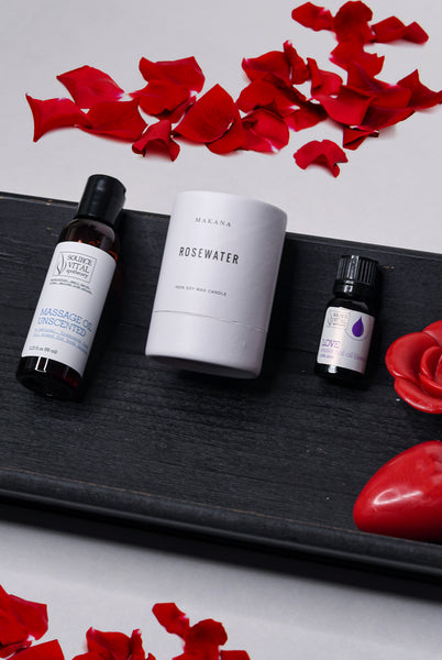 Romantic Valentine's Gift Set with all-natural, cruelty free and vegan products
