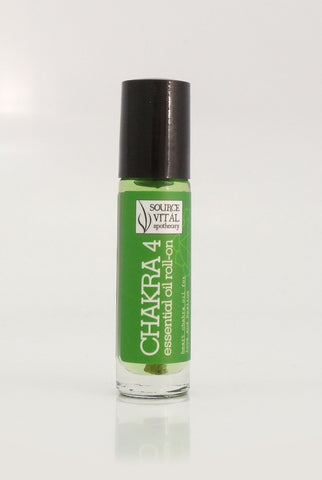 essential Oil Rollerball to Support Chakra 4