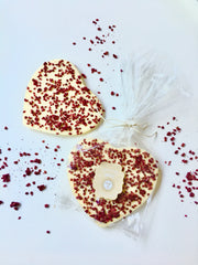 Large White Chocolate Raspberry Heart