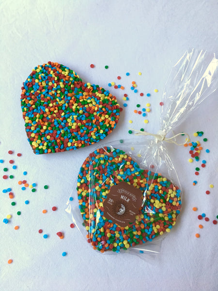 Large Milk Chocolate Sprinkle Heart