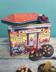 Chocolate Tin Selection with Salted Carmel, Fruit and Nut and Candied Orange