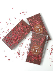 Dark Belgian Chocolate and Raspberry Block