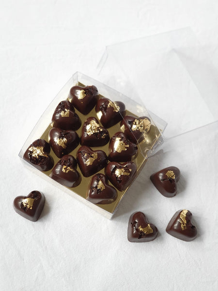 Kirsch Soaked Barberry Hearts in Dark Chocolate