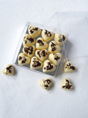 Kirsch Soaked Barberry Hearts in White Chocolate