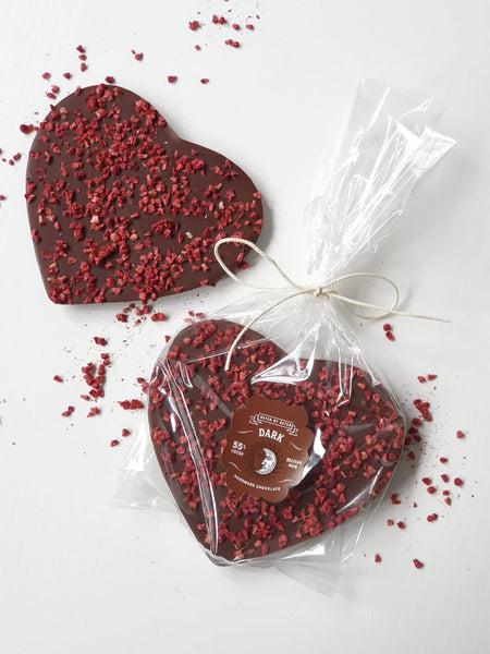 Large Dark Chocolate Raspberry Heart