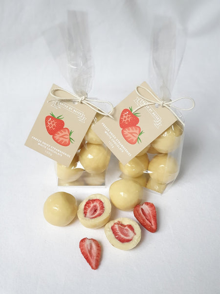 White Chocolate Freeze Dried Strawberries